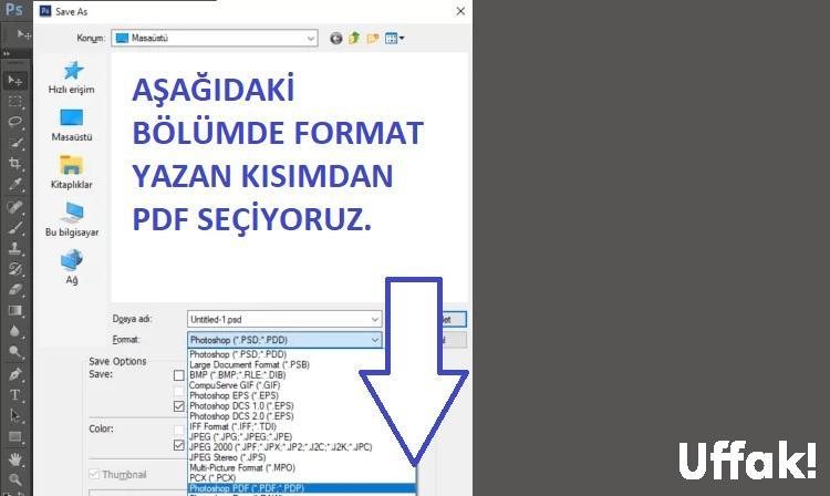 Photoshop Dosyayı PDF Olarak Kaydetme